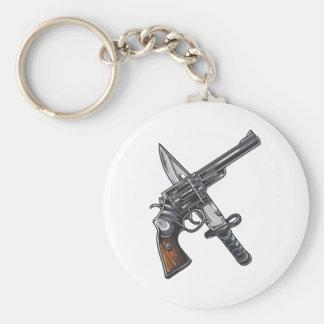 Messer Pistole knife gun Schlüsselband