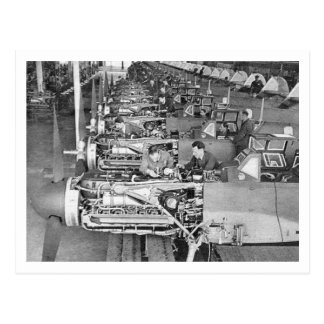 Messerschmitt Bf109 Production line at Regensburg Postcard
