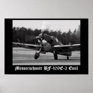 Messerschmitt Bf-109 E-3 Emil Poster