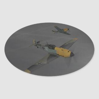 Messerschmitt ME109 Oval Sticker