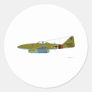 Messerschmitt Me-262 Swallow Classic Round Sticker
