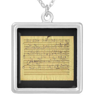 Messiah in Beethoven's Hand Silver Plated Necklace