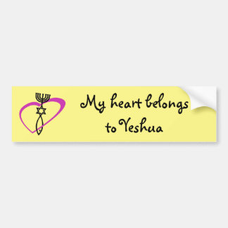 Messianic  Heart Sticker