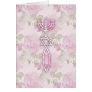 Messianic Seal Floral Card