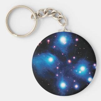 Messier 45 Pleiades Star Cluster NASA Space Photo Keychain