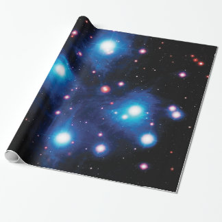 Messier 45 Pleiades Star Cluster NASA Space Photo Wrapping Paper