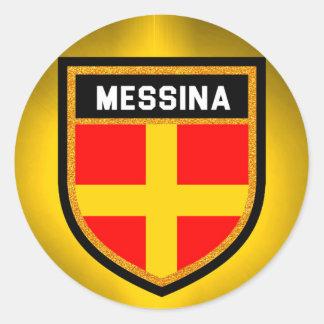 Messina Flag Round Sticker