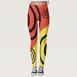 MESSMERIZING HYPNOTIC SWIRLS by Slipperywindow Leggings