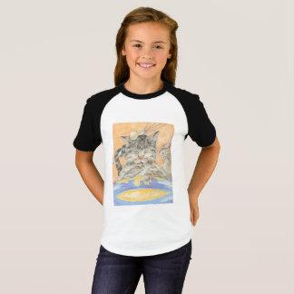 Messy Baker Cat Cartoon Art Girl's Jersey Shirt