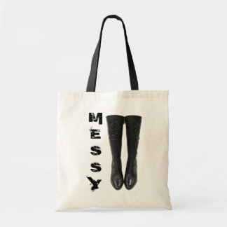 Messy Boots Tote Bag
