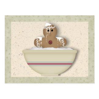 Messy Gingerbread Man Recipe Card