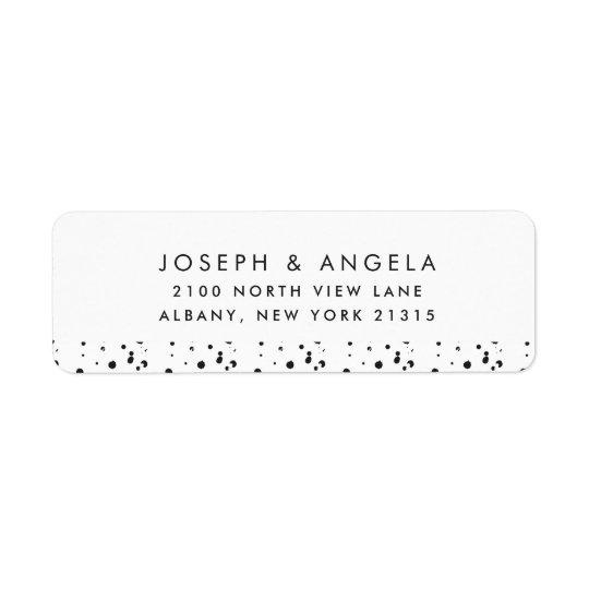 Messy Inky Spots Wedding Return Address Return Address Label