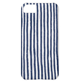 Messy Navy Pin Stripe Case iPhone 5c