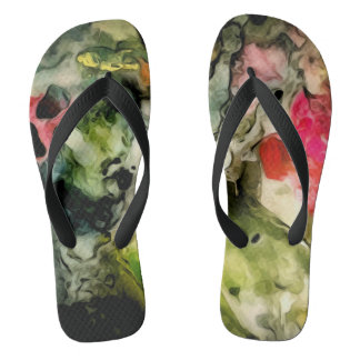 Messy Palette Cool Abstract Pattern Flip Flops