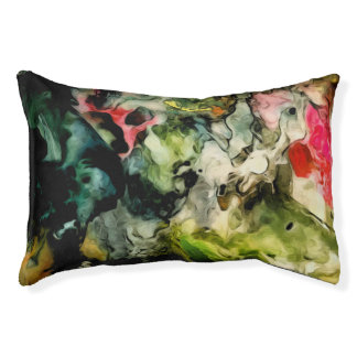 Messy Palette Cool Abstract Pattern Pet Bed