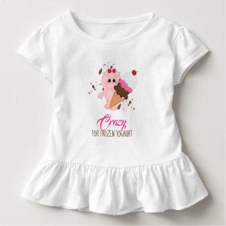 Messy Pig Frozen Yoghurt Funny Ruffle Tshirt