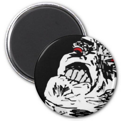 Meta Rage Face Fridge Magnet