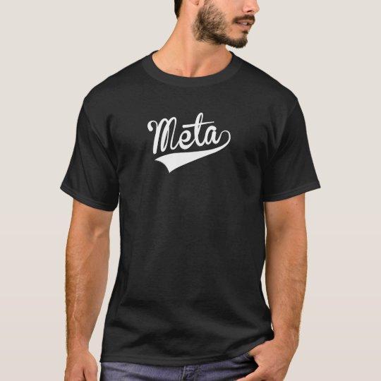 Meta, Retro, T-Shirt