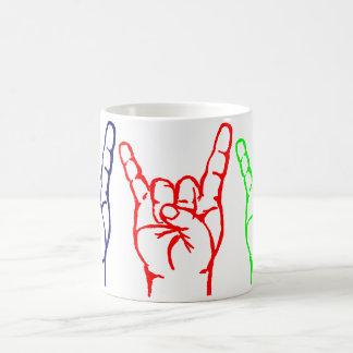 Metal 3 Color Horn Mug