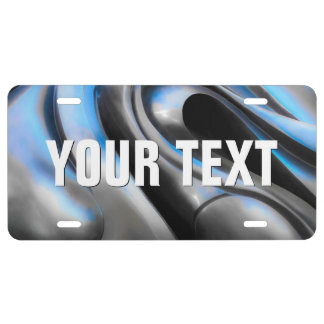 Metal Abstract Aluminum License Plate
