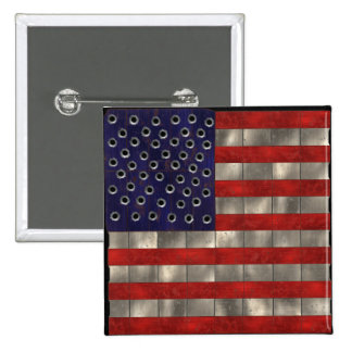 Metal Amercian Flag, Independence Day button
