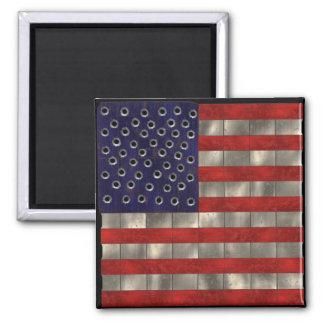 Metal Amercian Flag, Independence Day magnet