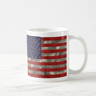 Metal American Flag, Independence Day mug