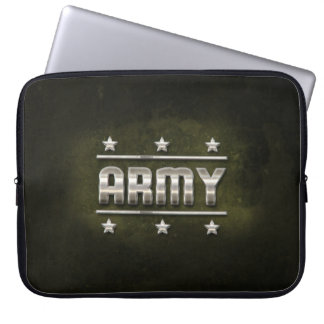 Metal Army Text Laptop Computer Sleeves