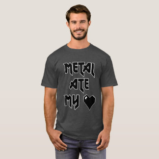 Metal Ate My Heart - Metalhead Shirt