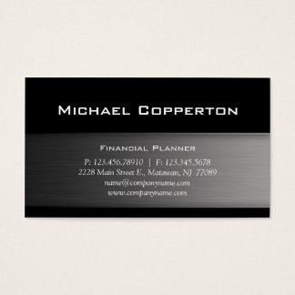 Metal Automotive Professional Plain Cool Business Card