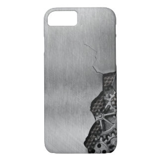 Metal background with mechanical damage iPhone 7 case