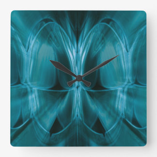 Metal Blue Glow Teeth Dentist Wall Clock