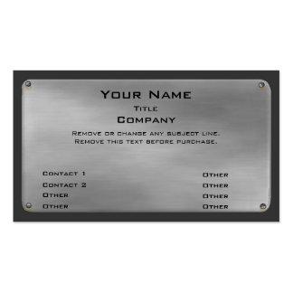 Metal Business Card II -silver-
