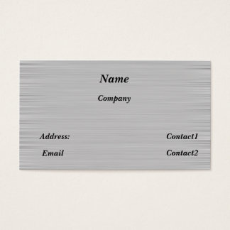 metal business card sleek