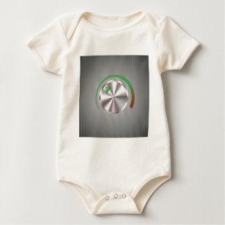 Metal  Button Baby Bodysuit