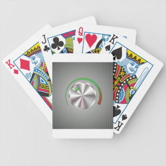 Metal  Button Bicycle Playing Cards