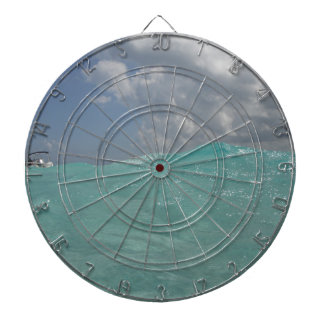 Metal Cage Dartboard with Grand Cayman Waves