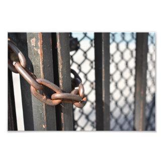 Metal Chain Link Fence Original NYC Photograph