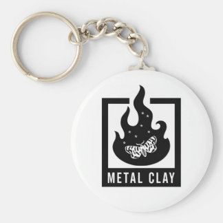Metal Clay Keychain