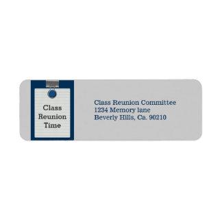 Metal Clip Notepaper Blue Class Reunion