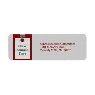Metal Clip Notepaper Red Class Reunion