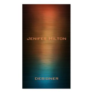 Métal coloré de luxe moderne élégant professionnel cartes de visite personnelles