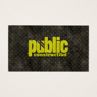 Metal Construction Welder Pattern Business Card