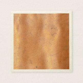 Metal copper texture disposable napkin