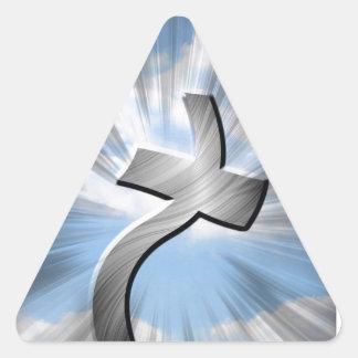 metal cross in the wind triangle sticker