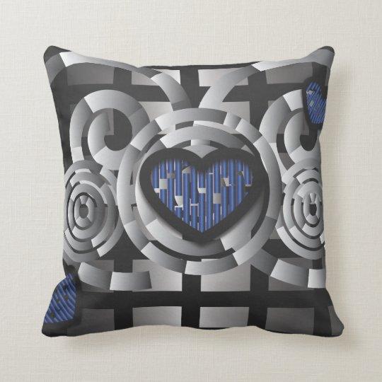 Metal crush throw pillow