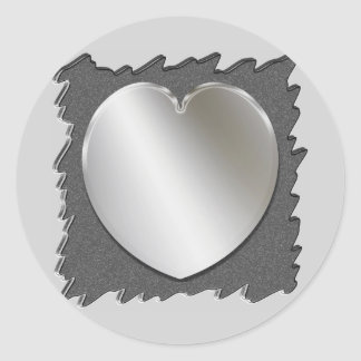 Metal Cut Out With Silver Heart Stickers