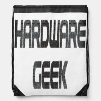 Métal de geek de matériel sac avec cordons