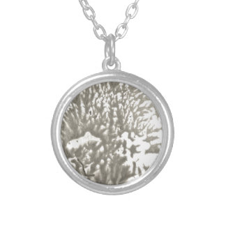 Metal desert silver plated necklace