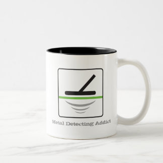 Metal Detecting Addict Two-Tone Coffee Mug